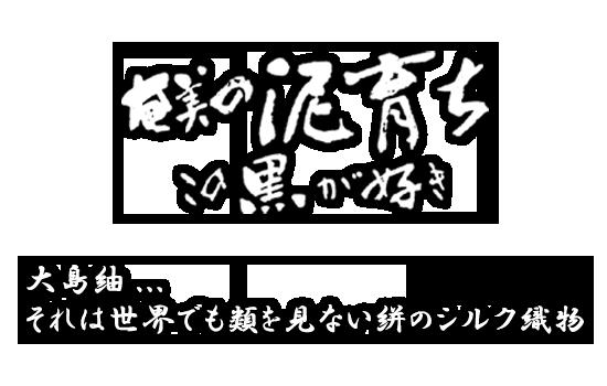 奄美の泥育ち この黒が好き 大島紬の美紀大島